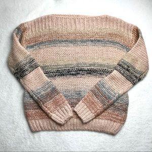 Anthropologie   Stripe Chunky Wool Sweater